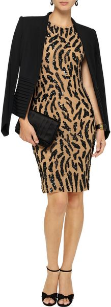 Alice + Olivia Suzie Sequinembellished Mesh Dress - Lyst