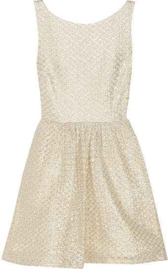Alice + Olivia Marla Metallic Lace Dress - Lyst