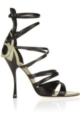 Bottega Veneta Appliquãd Leather Sandals - Lyst
