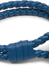 Bottega Veneta Double Woven Leather Bracelet - Lyst