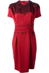 Bottega Veneta Embroidered Dress - Lyst