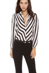 By Malene Birger Lancie Striped Blouse - Lyst
