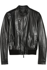 Calvin Klein Samara Leather Biker Jacket - Lyst