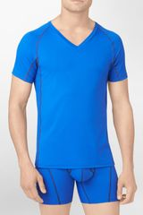 Calvin Klein Athletic Stretch V-Neck T-Shirt - Lyst