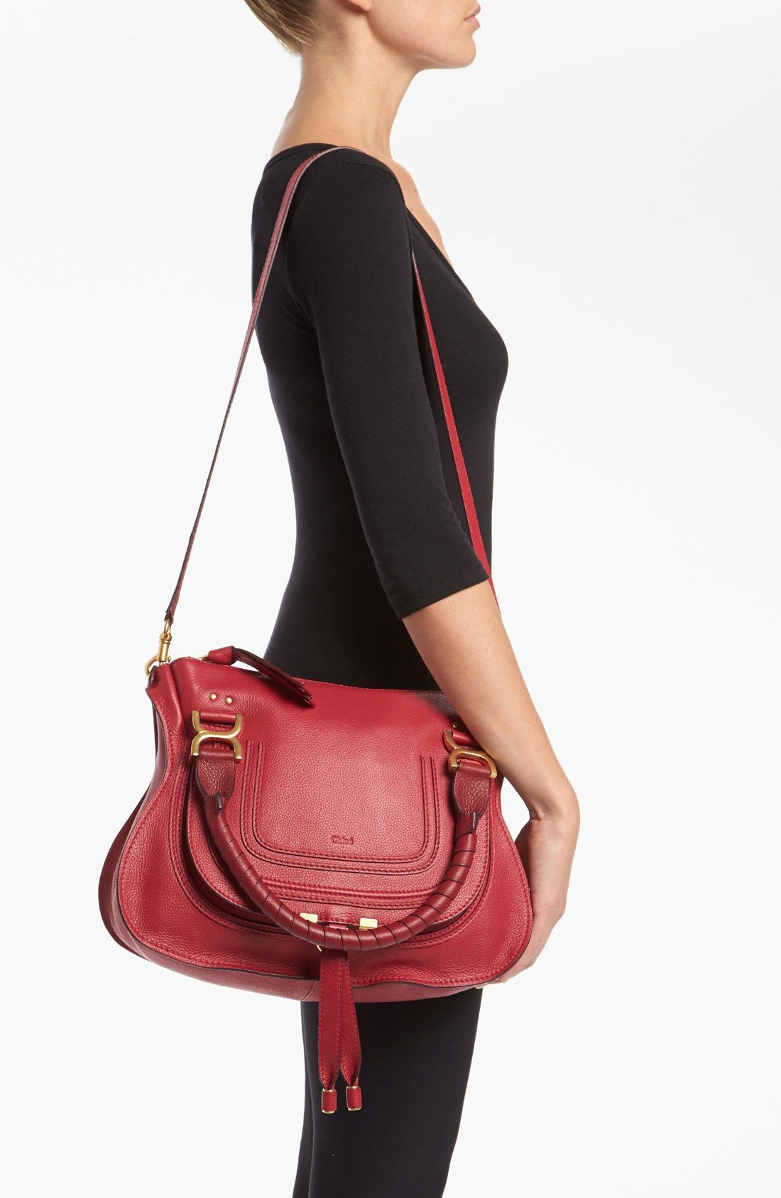chloe imitation handbags - chloe women\u0026#39;s marcie medium satchel, chloe red bag