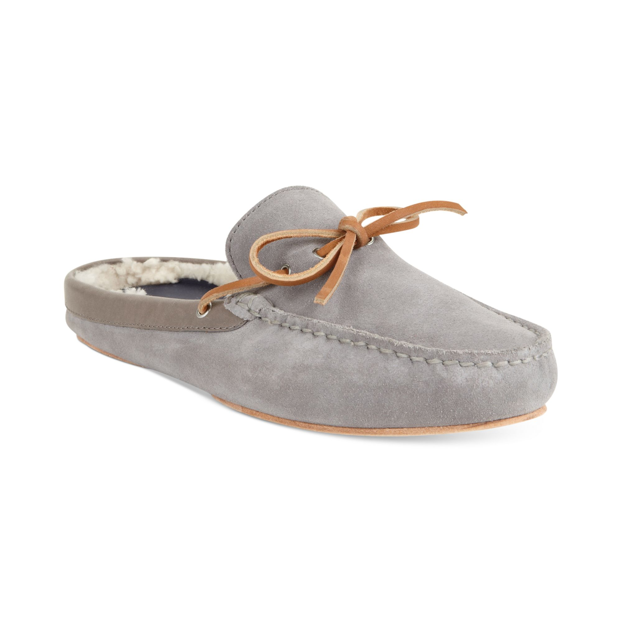 Cole Haan Grant Scuff Slippers In Gray For Men Ironstone
