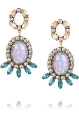 Dannijo Paz Goldtone Swarovski Crystal Earrings - Lyst