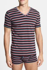 Diesel Michael Striped Vneck Undershirt - Lyst