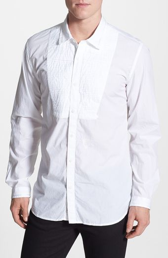 Diesel Salapa Pleated Bib Shirt - Lyst