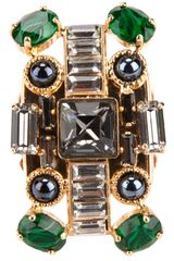 Emilio Pucci Embellished Cocktail Ring - Lyst