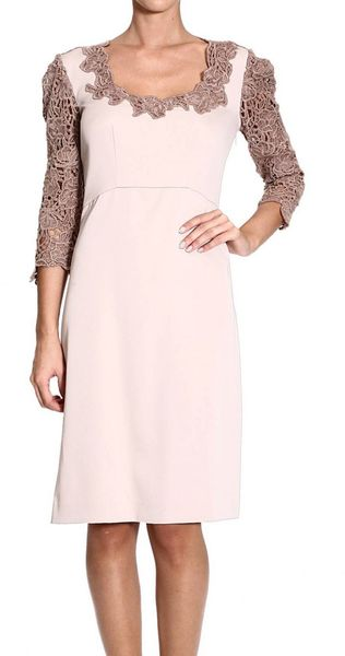 Ermanno Scervino Dresses Long Sleeve Cady Lace - Lyst