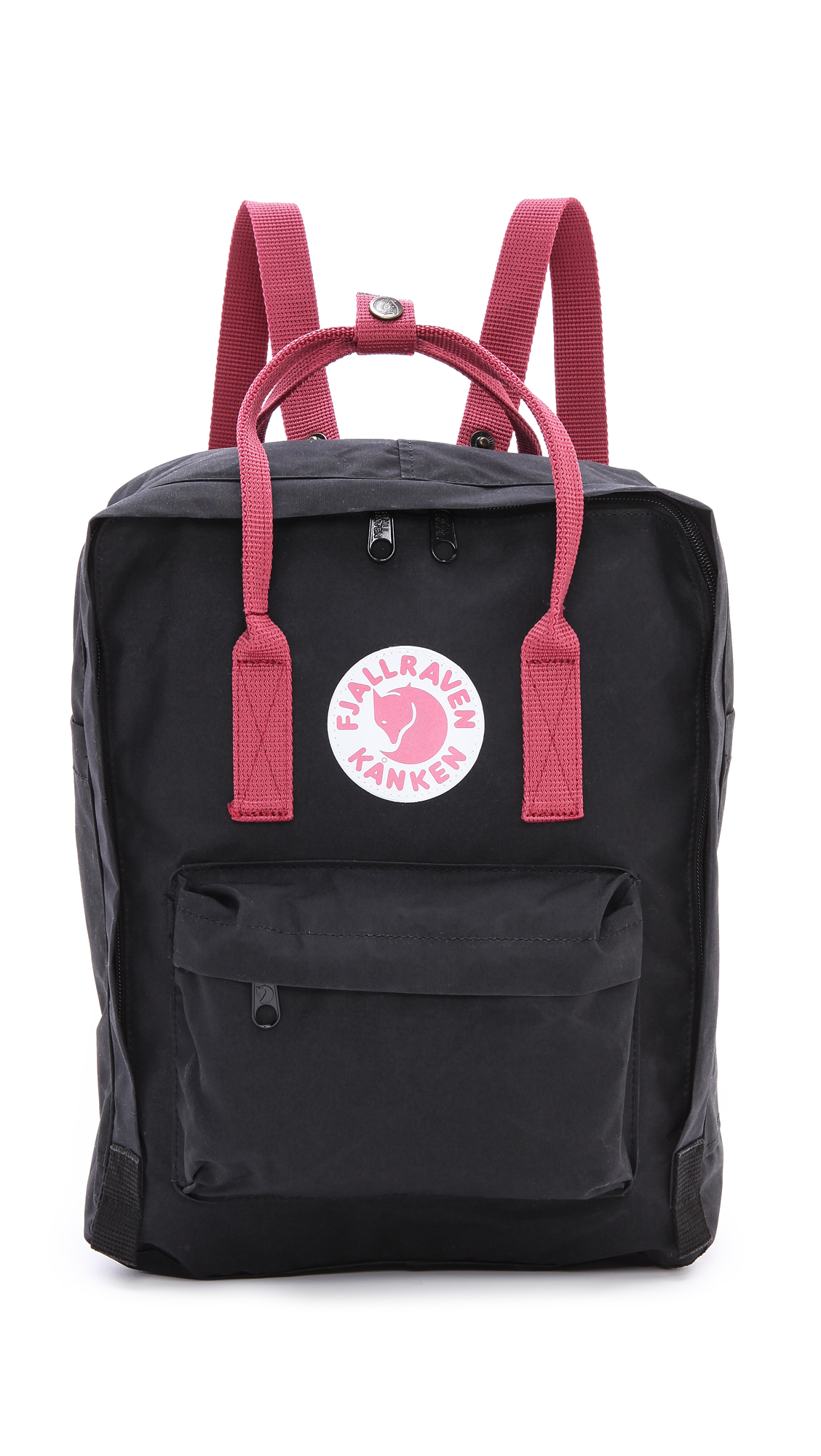 kanken mini black ox red