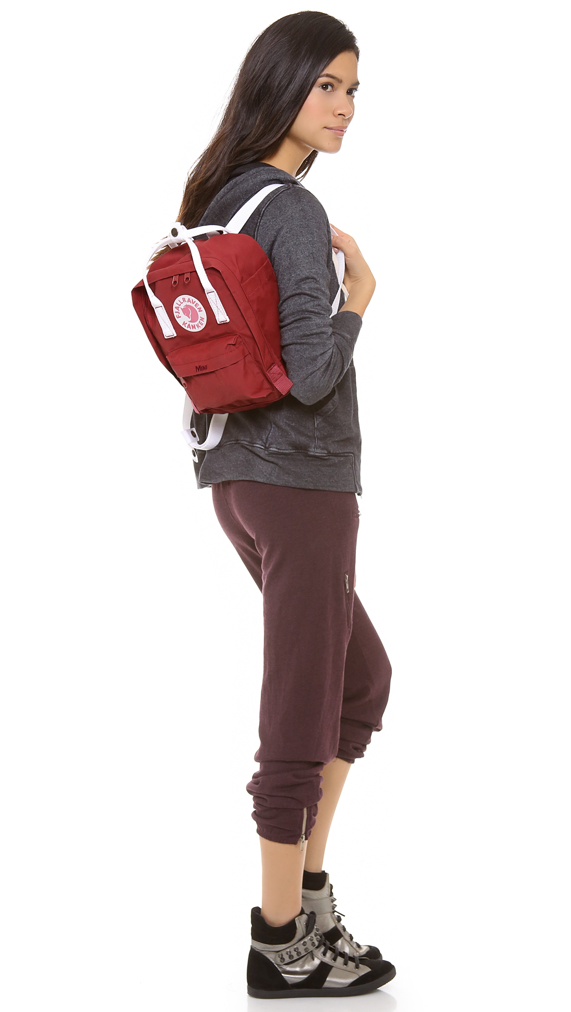 Lyst Fjallraven Kanken Mini Backpack In Red