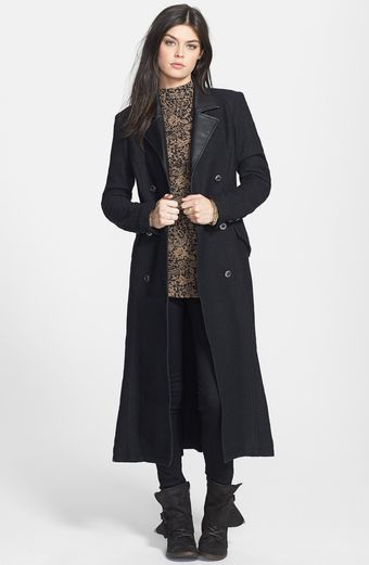 Free People Solid Sargent Long Military Coat - Lyst