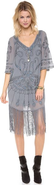 Free People Livin The Fringe Life Dress - Lyst
