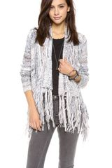 Free People Fringe Cardigan - Lyst