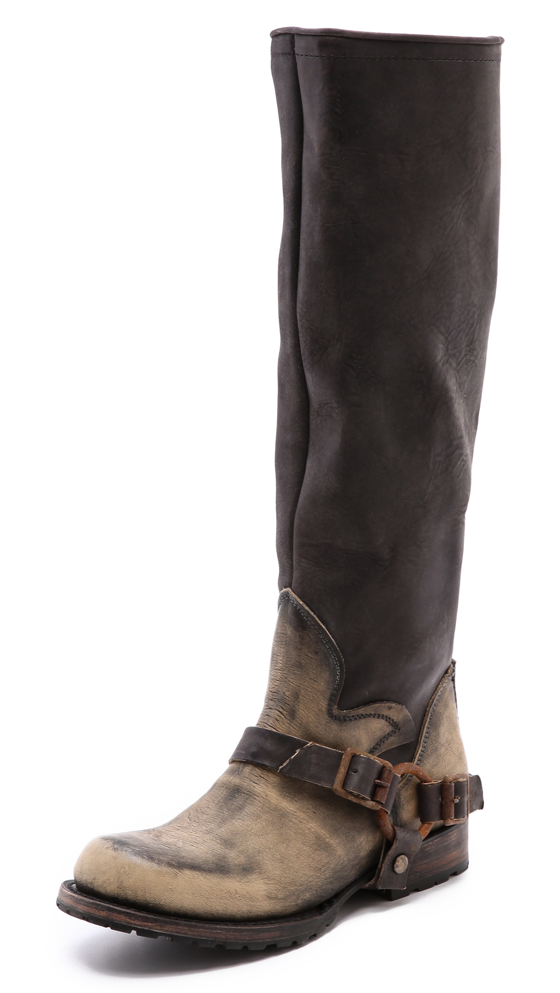 Freebird by steven Haven Zip Back Tall Moto Boots in Gray ...