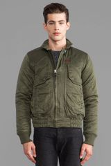 G-star Raw Atlas Marlow Bomber in Army - Lyst