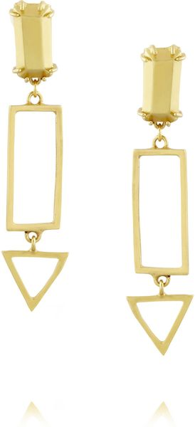 Gemma Redux Goldplated Earrings - Lyst