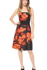 Giambattista Valli Floral Strapless Dress - Lyst