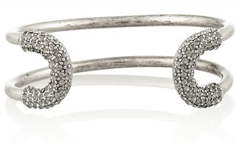 Giles & Brother Skinny Cortina Silverplated Crystal Cuff - Lyst