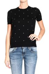 Gucci  Short Sleeve Polka Dot Sweater