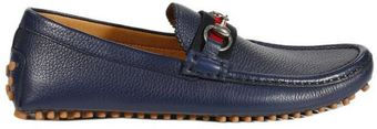 Gucci Shoes Driver Damo Leather Horsebit Web - Lyst