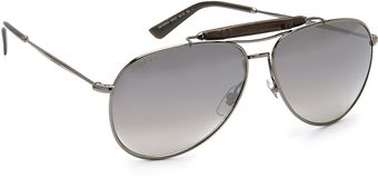 Gucci Aviator Sunglasses with Gradient Lenses - Lyst