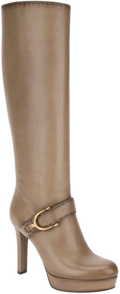 Gucci Platform Knee-High Boot - Lyst