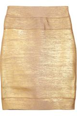 Hervé Léger High-waisted Bandage Mini Skirt - Lyst