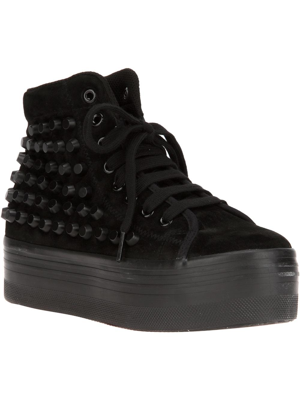 Jeffrey Campbell Omg Platform Sneaker In Black Lyst
