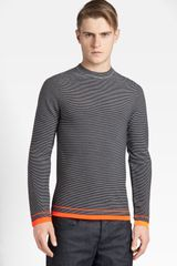 Jil Sander Stripe Wool Crewneck Sweater - Lyst