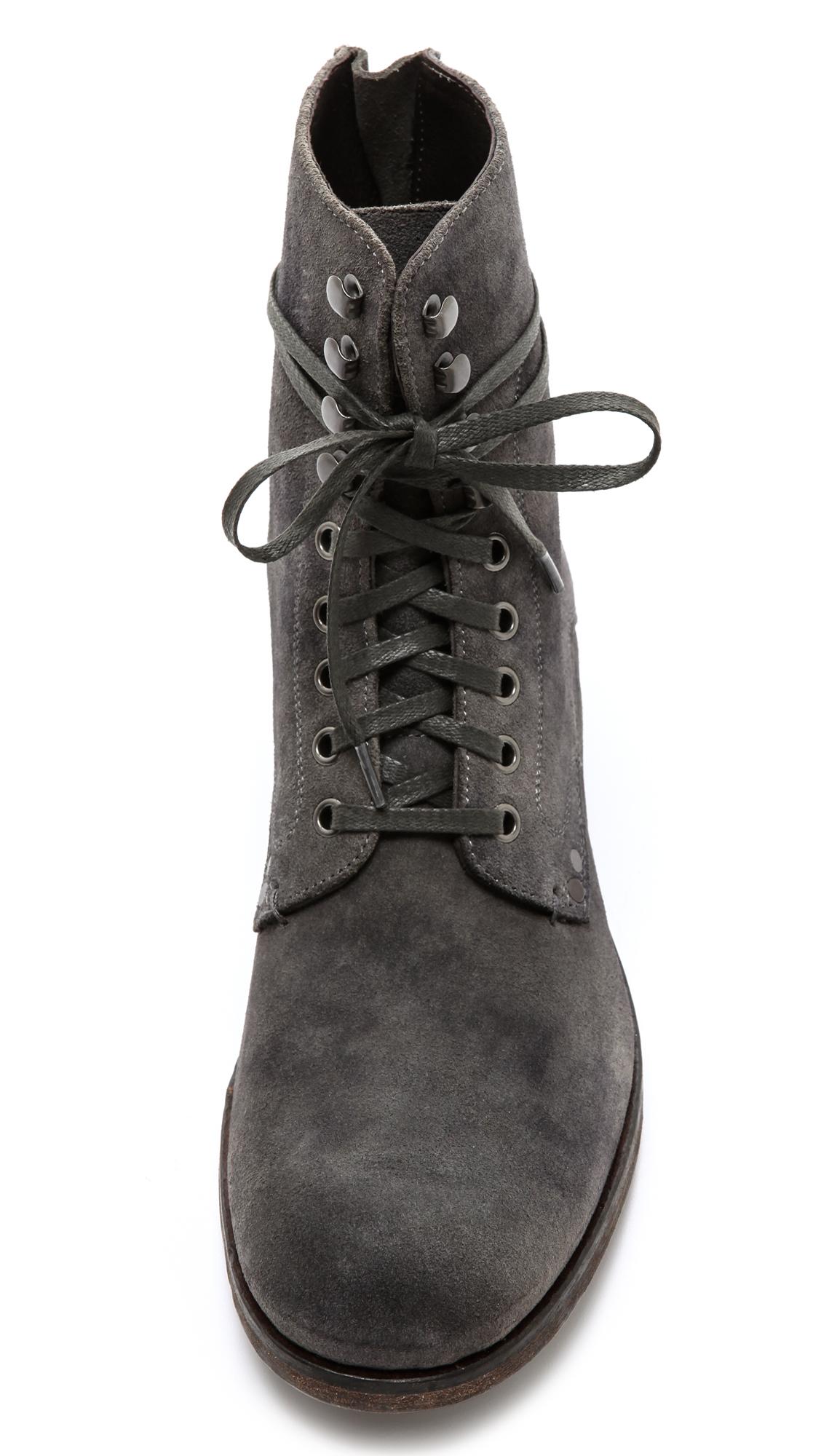 Lyst John Varvatos Bonham Lace Boots In Gray For Men