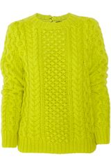 Joseph Cableknit Wool and Cashmere-blend Sweater - Lyst