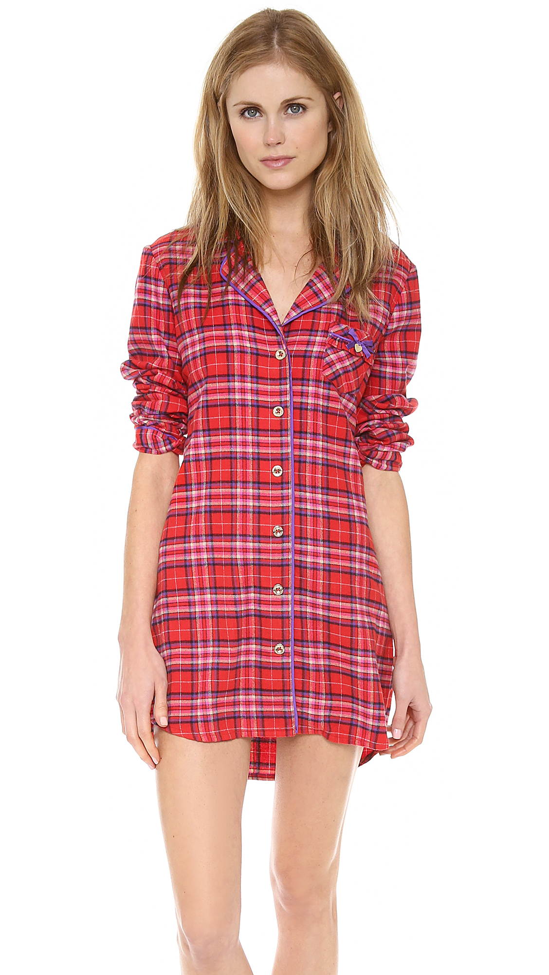 Lyst - Juicy Couture Flannel Nightshirt in Red