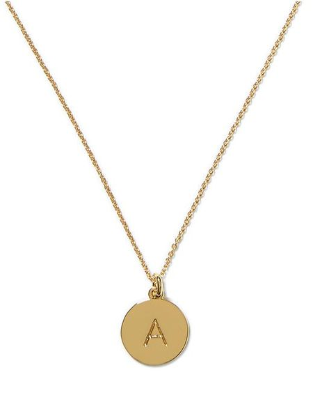 kate spade initial pendant in gold quot a quot gold lyst