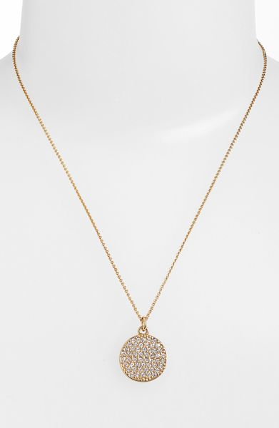 kate spade boxed pav 233 pendant necklace in gold gold