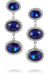 Kenneth Jay Lane Rhodiumplated Swarovski Crystal Earrings - Lyst