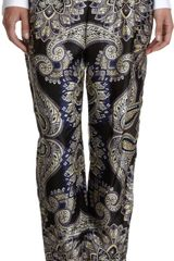 Lanvin Paisley Print Pull On Pants - Lyst