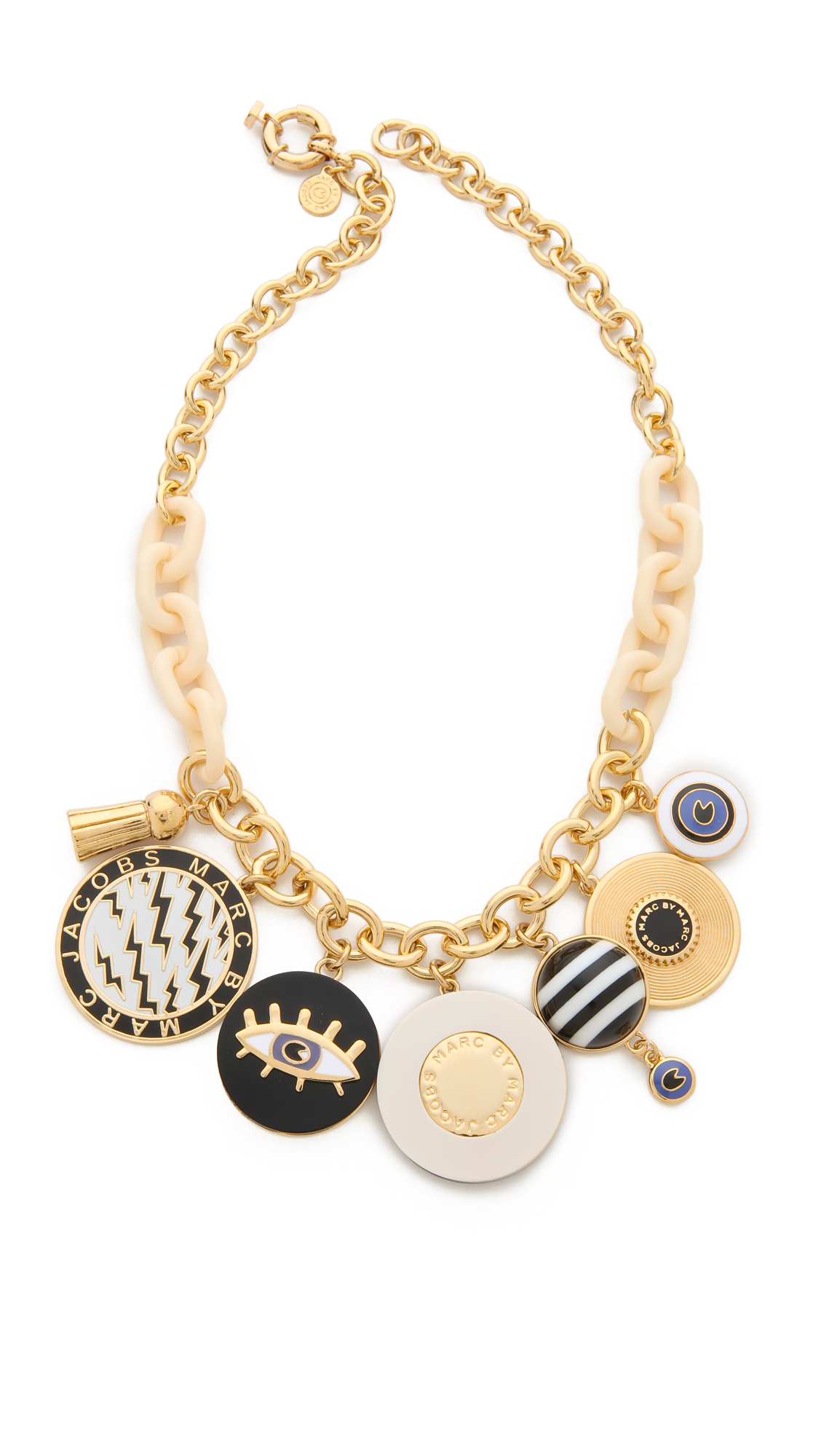 Marc By Marc Jacobs Dynamite Charm Necklace In Black Lyst