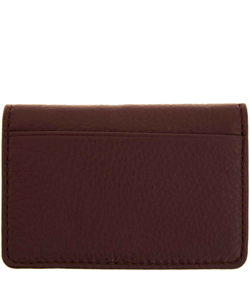 Lyst - Marc By Marc Jacobs Burgundy Classic Q Business Card Holder ...