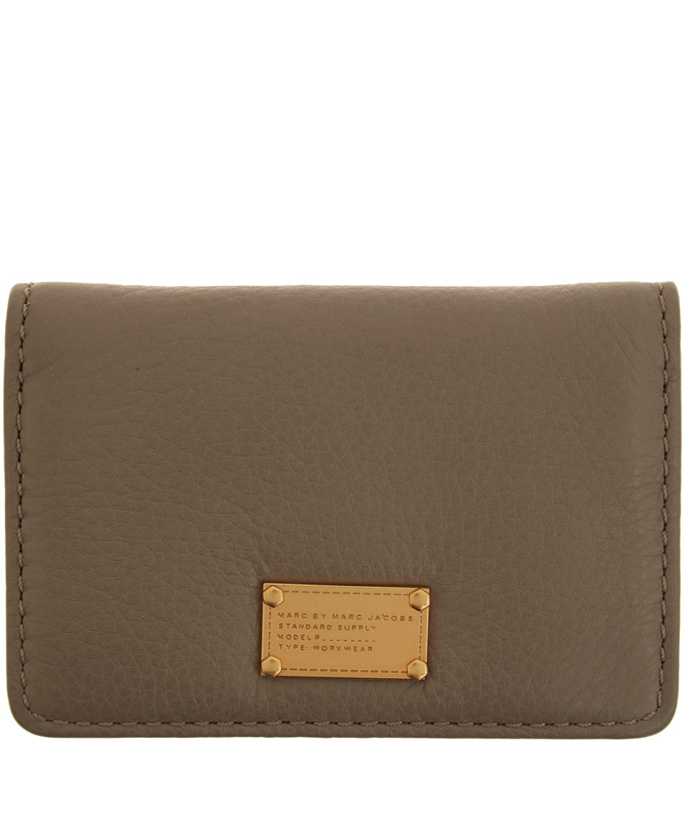 Lyst marc by marc jacobs taupe classic q business card holder in gallery colourmoves