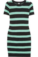 Markus Lupfer Striped Cotton and Wool Blend Dress - Lyst