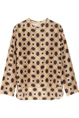 Marni Geometric print Silk Top - Lyst