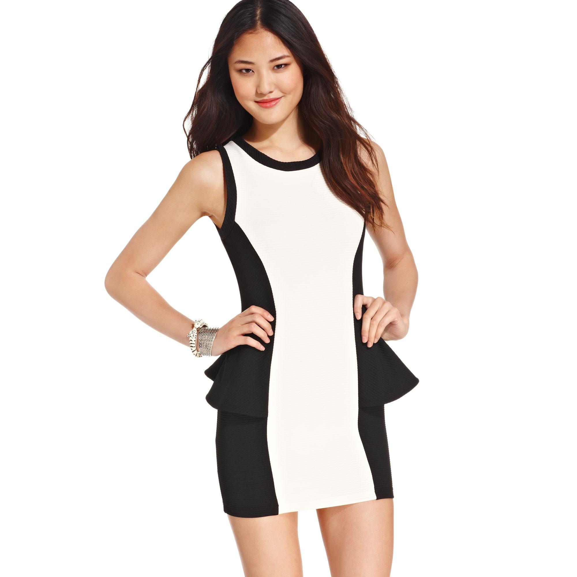 White Peplum Dresses for Juniors
