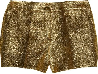 Michael Kors Metallic Brocade Shorts - Lyst