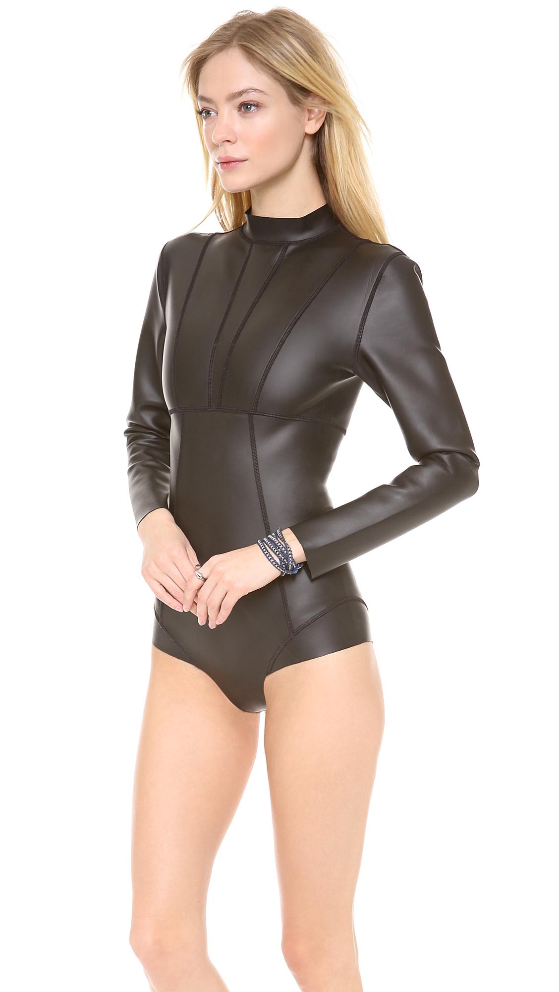 Mikoh Swimwear Banzai Pipeline One Piece Swimsuit In Black