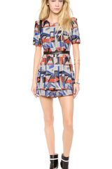 Milly Graphic Print Romper - Lyst