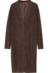 Missoni Metallic Patterned Knitted Cardigan - Lyst