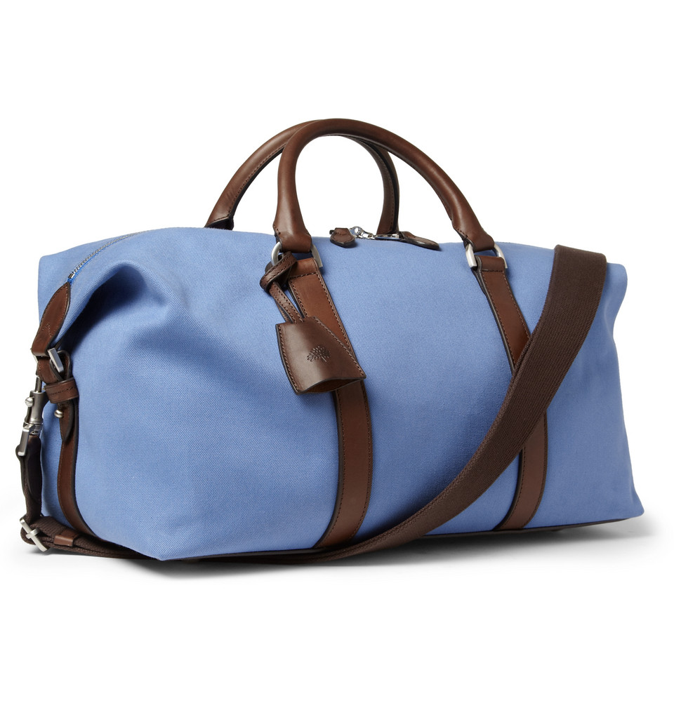 a99650d8cb Lyst - Mulberry Small Clipper Leathertrimmed Canvas Holdall Bag in ...